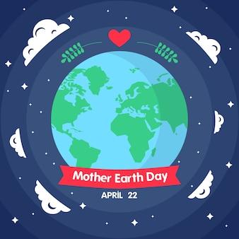 Internationale moeder aarde dagstijl