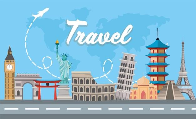 Internationale reisbestemming avontuurlijke tour