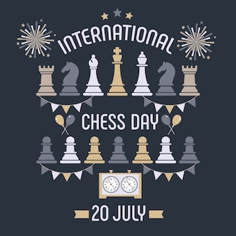 Internationale schaakdag wordt jaarlijks gevierd op 20 juli