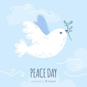 Internationale vredesdag achtergrond met duiven