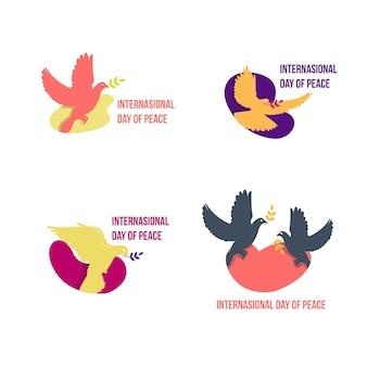 Internationale vredesdag achtergrond sjabloon vector