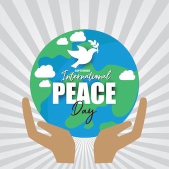 Internationale vredesdag. illustratie concept huidige vrede wereld.
