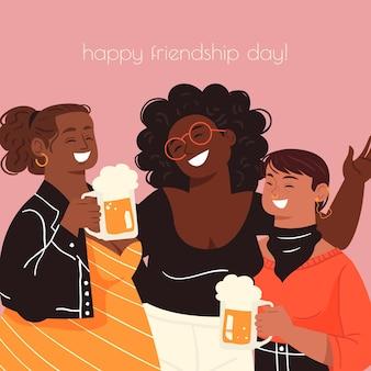 Internationale vriendschap dag illustratie
