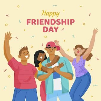 Internationale vriendschapsdag illustratie