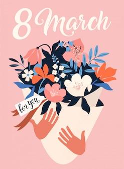 Internationale vrouwendag. 8 maart.