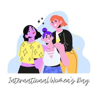 Internationale vrouwendag. 8 van maart vectorillustratie.