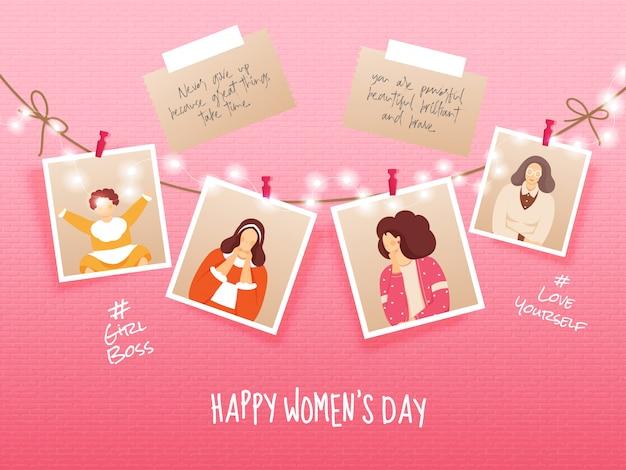 Internationale vrouwendag achtergrond.