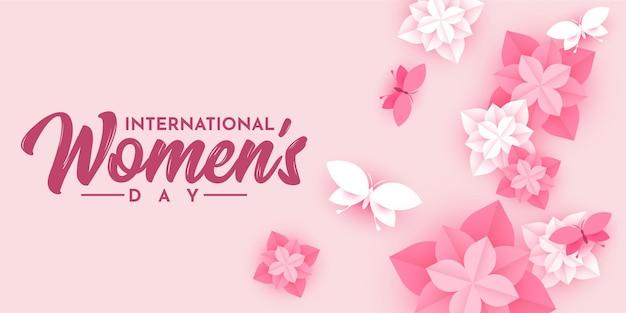 Internationale vrouwendag achtergrondillustratiesjabloon