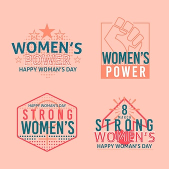 Internationale vrouwendag-badgecollectie