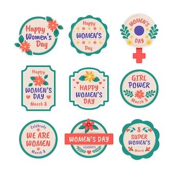 Internationale vrouwendag-badges