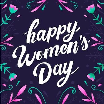 Internationale vrouwendag belettering