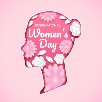 Internationale vrouwendag bloem illustratie