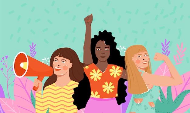 Internationale vrouwendag concept