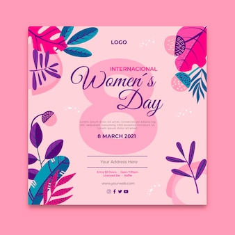 internationale vrouwendag flyer
