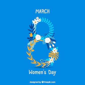 Internationale vrouwendag hand getrokken achtergrond