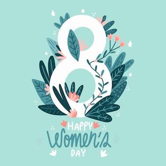 Internationale vrouwendag illustratie