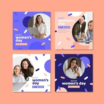 Internationale vrouwendag instagram-bericht