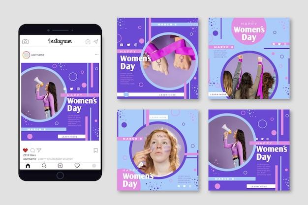 Internationale vrouwendag instagram-berichten