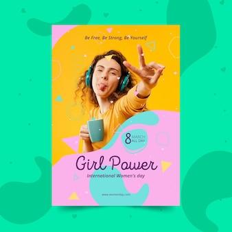 Internationale vrouwendag poster sjabloon