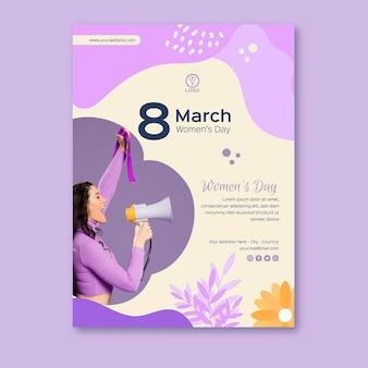 Internationale vrouwendag poster