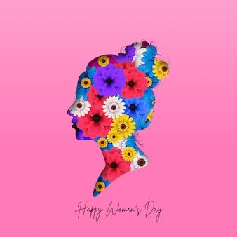 Internationale vrouwendag wenskaart achtergrond