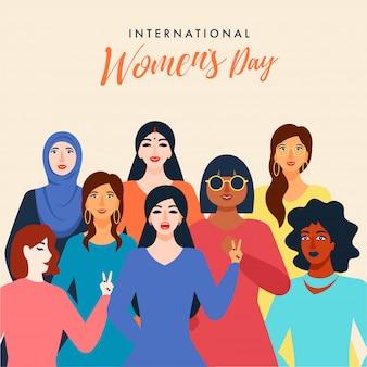 Internationale vrouwendag wenskaart