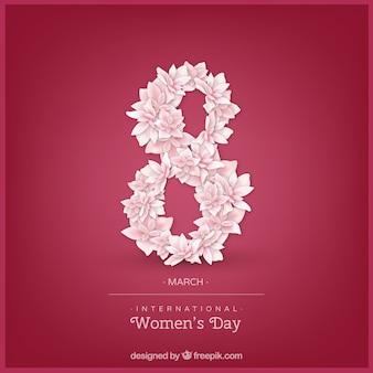 Internationale vrouwendagachtergrond in realistische stijl
