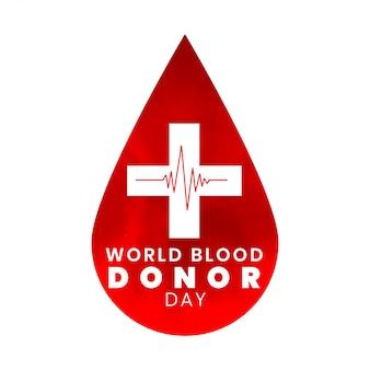 Internationale wereld bloeddonor dag bewustzijn achtergrond