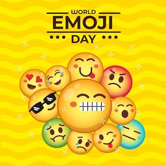 Internationale wereld emoji dag design concept