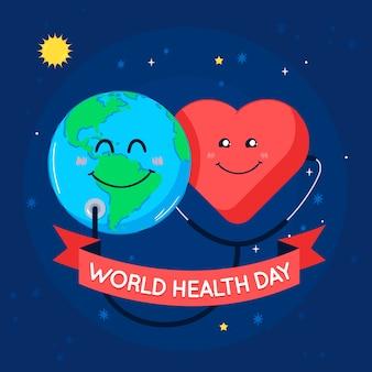 Internationale wereld gezondheidsdag evenement