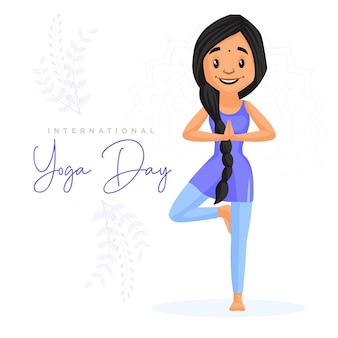 Internationale yoga dag banner ontwerpsjabloon