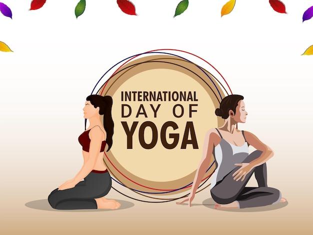 Internationale yoga dag viering achtergrond