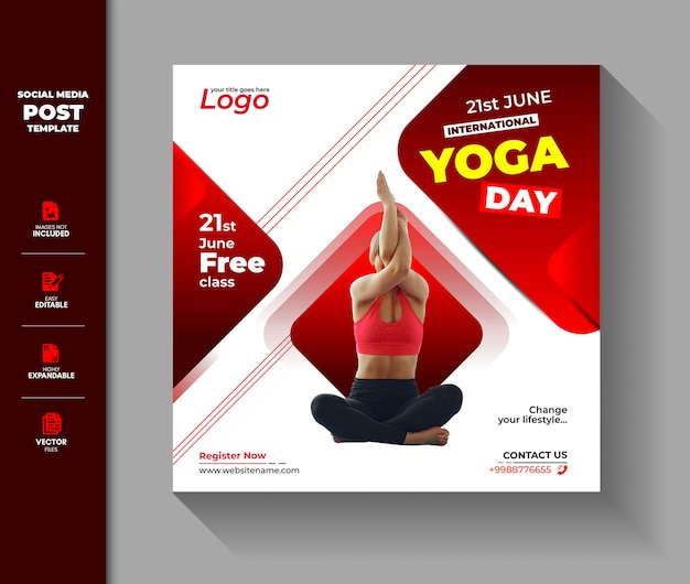 Internationale yogadag social media post instagram-banner