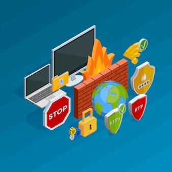 Internet beveiligingsconcept
