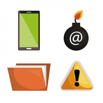 Internet beveiligingsinformatie pictogram