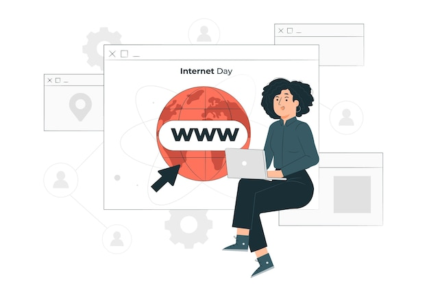 Internet dag concept illustratie