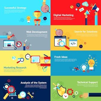 Internet design concept set