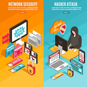 Internet hacker banners