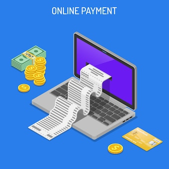 Internet-het winkelen en online betalingsconcept
