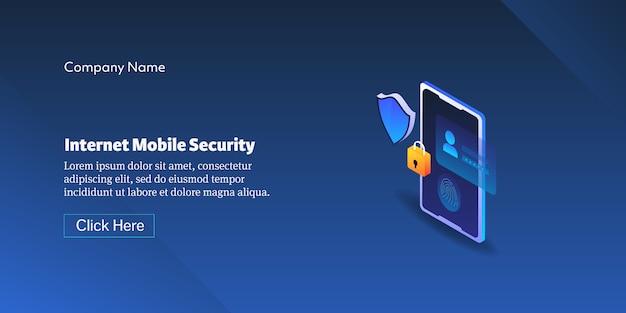 Internet mobiele veiligheidsconcept