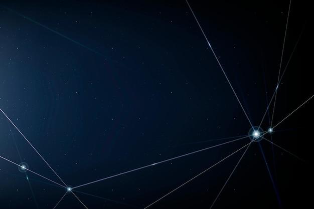 Internet netwerktechnologie achtergrond met blauwe digitale lijn
