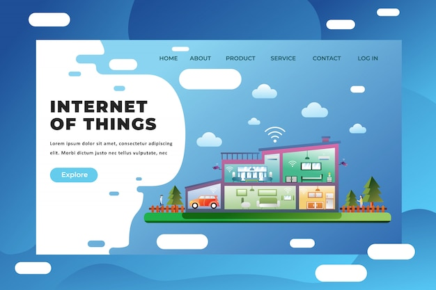 Internet of things bestemmingspagina sjabloon