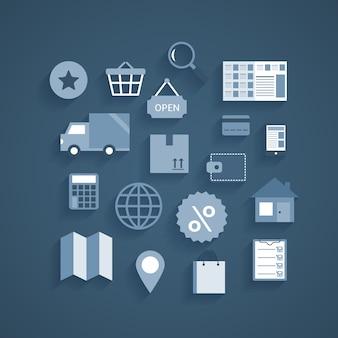Internet pictogrammen collectie