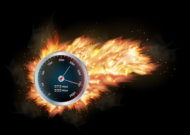 Internet snelheid test meter