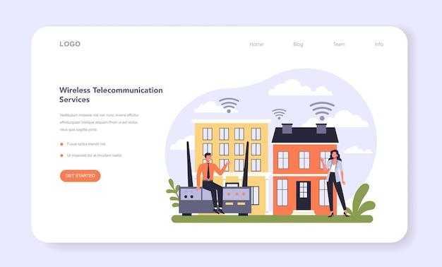 Internet telecommunicatiediensten sector van de economie webbanner