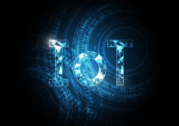 Internet van abstracte de cirkelachtergrond van de dingentechnologie