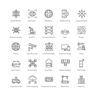 Internet van dingen pictogrammen pack