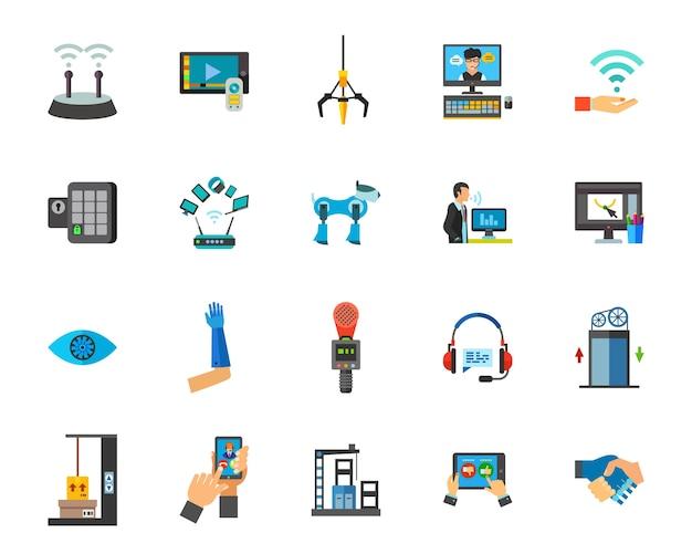 Internet van dingen pictogramserie