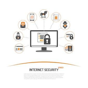 Internet veiligheidsconcept