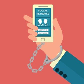 Internet verslaving aan mobiele telefoons